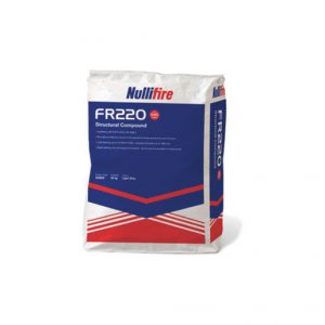Nullifire FR220 Firestopping Compound is a single part gypsum-based compound providing up to 4 hours fire resistance.