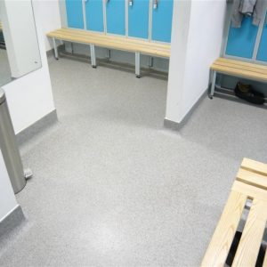 Resuflake uses decorative coloured flakes to create unique designs and patterns. seamless floor finish