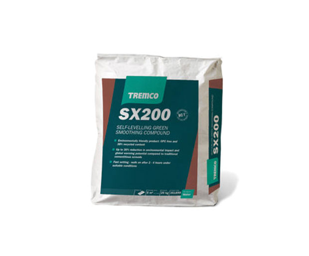 SX200 is a fast drying, self levelling, and pump applied underlayment, for levelling of concrete floors before the installation of floor coverings.