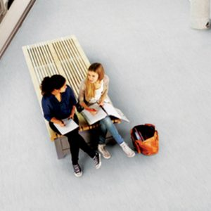 Vylon Plus is a homogeneous vinyl floorcovering suitable for use in commercial areas