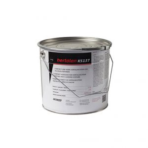 A ready-for-use contact adhesive which has been developed especially for adhering EPDM membranes both vertically and horizontally onto surfaces