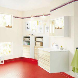 Homogeneous and heterogeneous polyvinyl chloride floor coverings