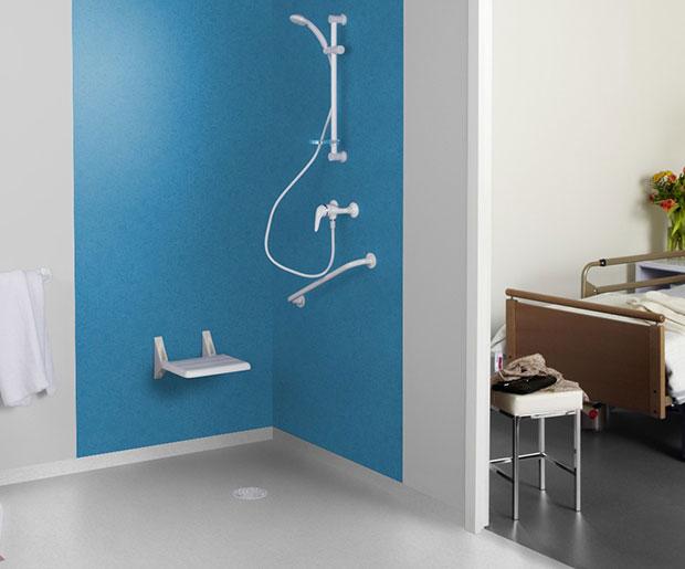 Brick Light Grey Aquarelle Wall Wetroom System