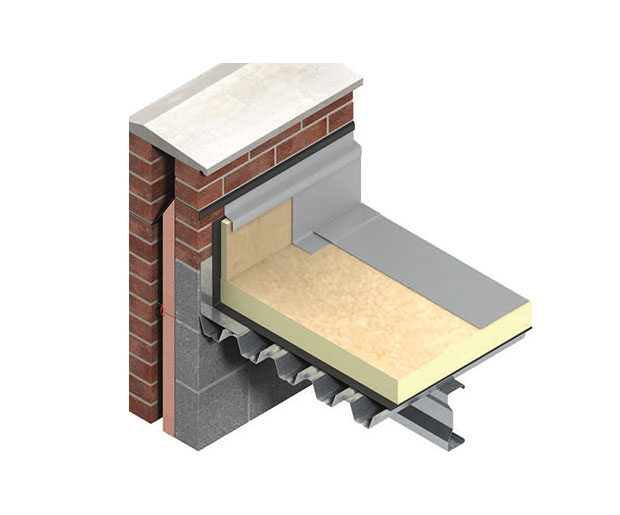Thermaroof TR27 LPC/FM is a high performance insulation core for flat roofs waterproofed with fully adhered single–ply, partially bonded built–up felt, mastic asphalt and cold liquid applied waterproofing.