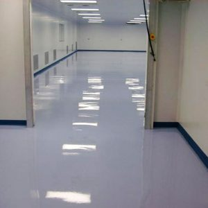 Resustat ESM is a three pack, anti-static, epoxy resin based flooring system which is laid at 3 mm nominal thickness.