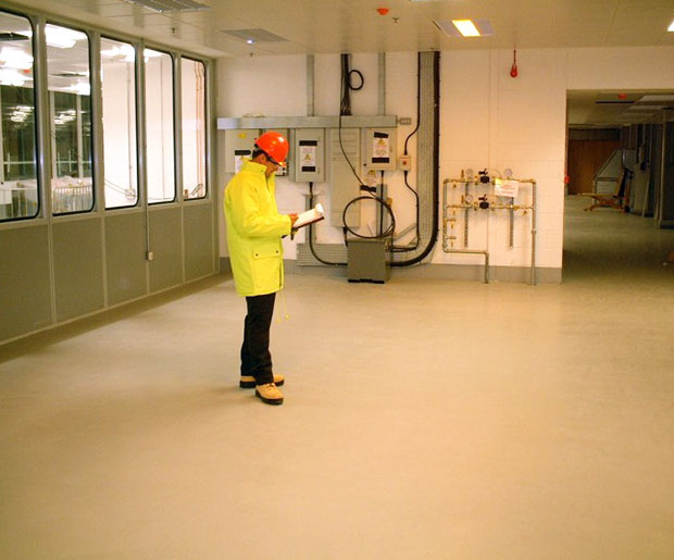 A Matt self-smoothing, water based, seamless, polyurethane resin floor finish