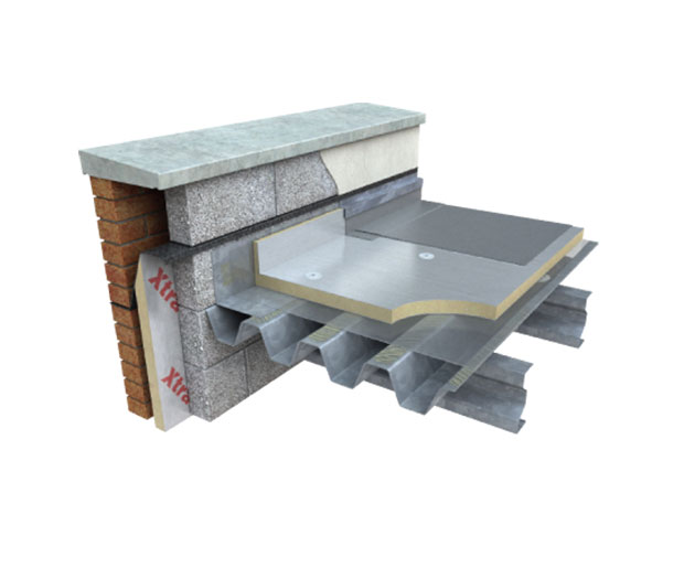 Xtratherm FR/ALU is a high performance flat roof insulation board with vapour-tight aluminium foil facings suitable for use with single ply membranes.