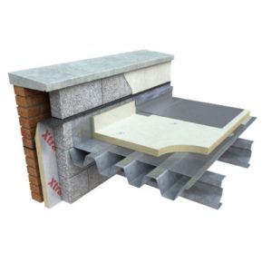 Xtratherm FR/MG is a high performance insulation board suitable for use below single ply fully adhered roof membranes, single ply waterproofing systems and partially bonded built-up felt