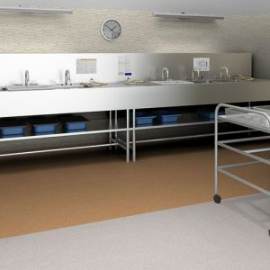 iQ Granit SD is a homogeneous, resilient, permanently static dissipative control flooring