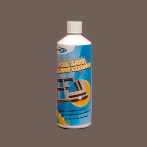 cleaner for use on unplasticised uPVC profiles and profiles covered by foils