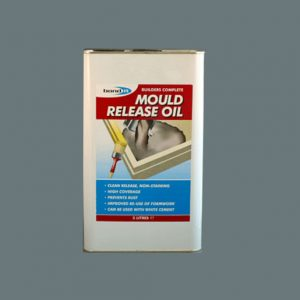 A chemical release agent for mould and shutter surfaces prior to casting concrete, giving a clean release