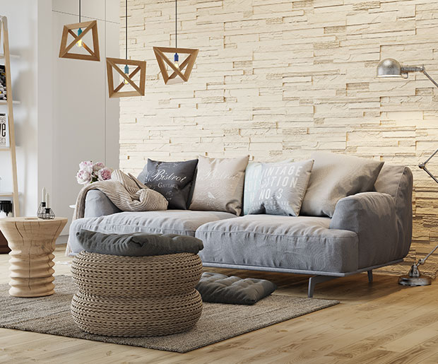 Stegu Creta Cream - Decorative stone adds individual character to any interior
