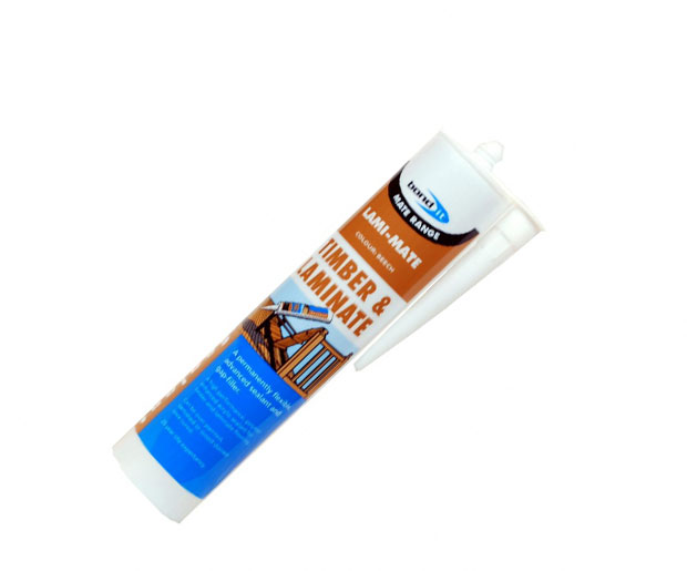 A polymer enhanced, flexible sealant and gap-filler designed for sealing all tongue and groove laminate and hardwood flooring