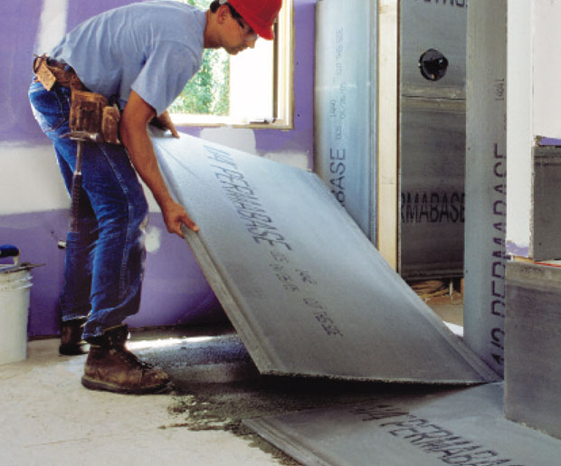 Permabase Cement Board Underlayment - is used as an underlayment
