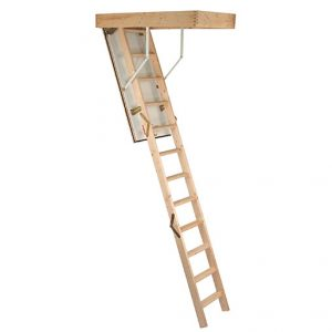 Minka Complete Loft Ladder - with wooden frame