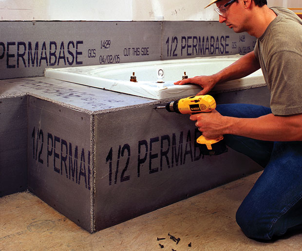 Permabase Cement Board - a rigid substrat