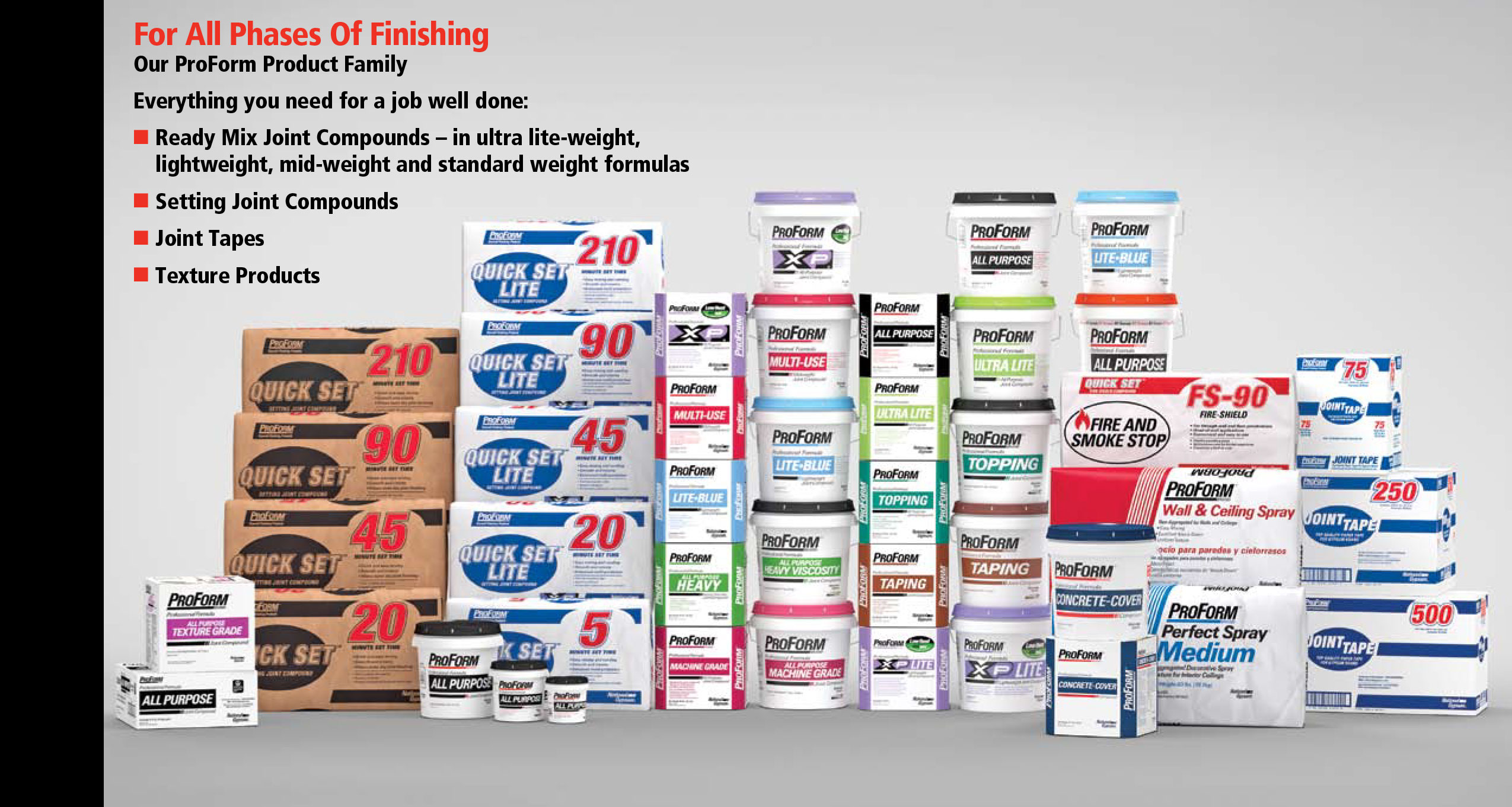 ProForm Interior Finishing Products