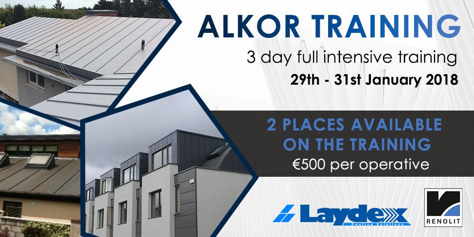 Alkor Training Roofing Laydex Dublin