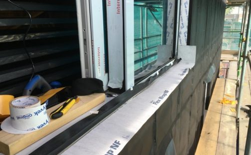 Installation of Tyvek® FlexWrap tapes