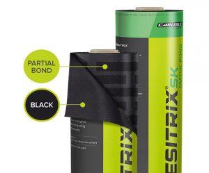 Partially Self Adhesive Membrane Resitrix SK Black