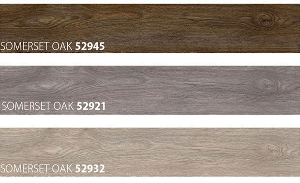 Colour Samples of Wooden Look Flooring type Summerset Oak