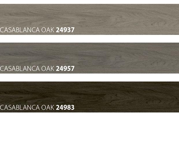 colour samples of wooden look floor