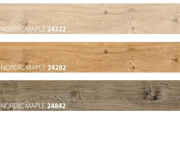 Vinyl wooden look floor colours samples