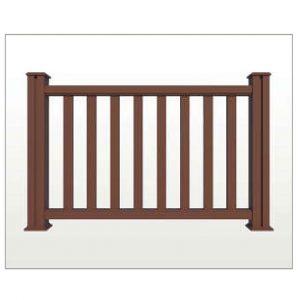 Teranna composite decking railing in brown colour