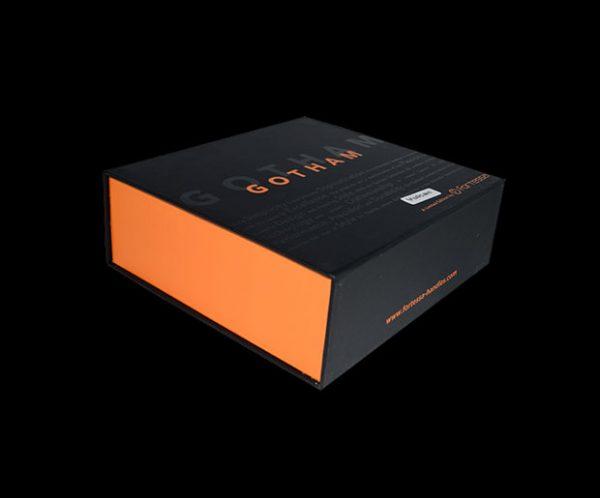 black and orange fortessa gotham door handle box set box