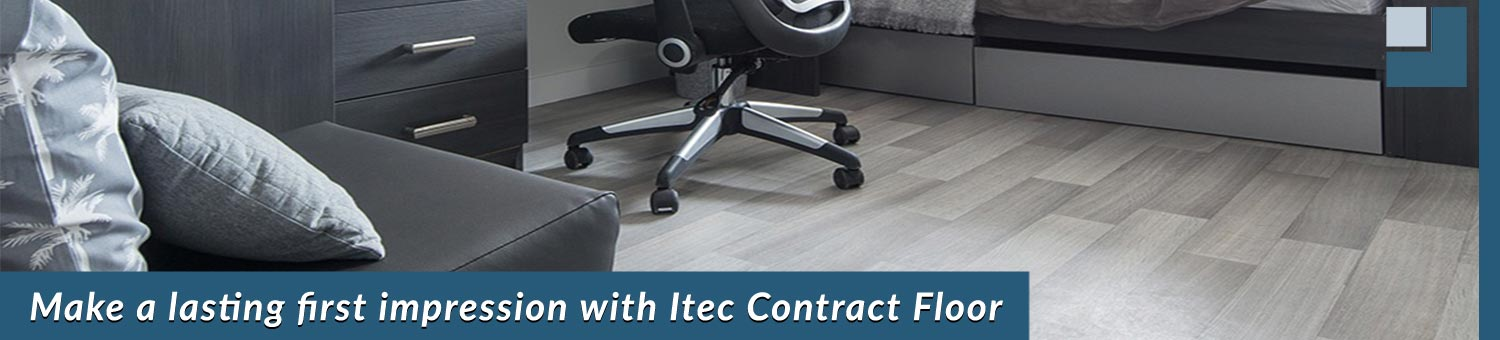 itec vinyl contract floor installe in the student accommodation