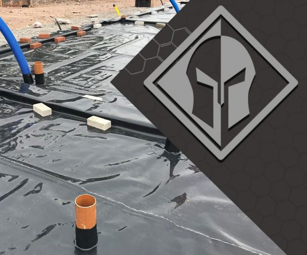 Juta titanbond fully bonded membrane installed on the site with Titan logo