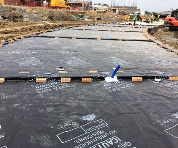 Juta Titanflex Gas and hydrocarbon barrier installed on the site