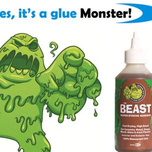 bondit monster the beast polyurethane glue super-strong, solvent-free, waterproof adhesive which is rapid setting with very high bond strength