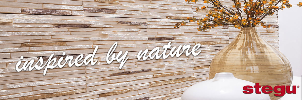 stegu decorative stone tiles inspired by the nature installed on the wall