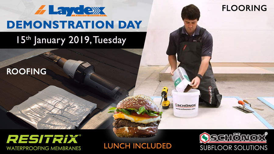 Laydex Demonstration Flooring Roofing Day January 2019