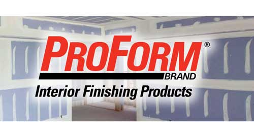 Proform logo with cement boards background