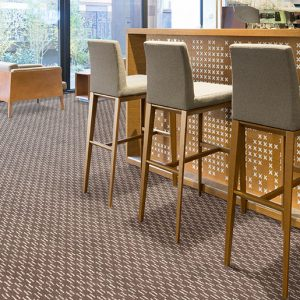 Westex-Hospitality-and-leisure-patterned-broadloom-carpet-installed on the hotel leisure lounge floor