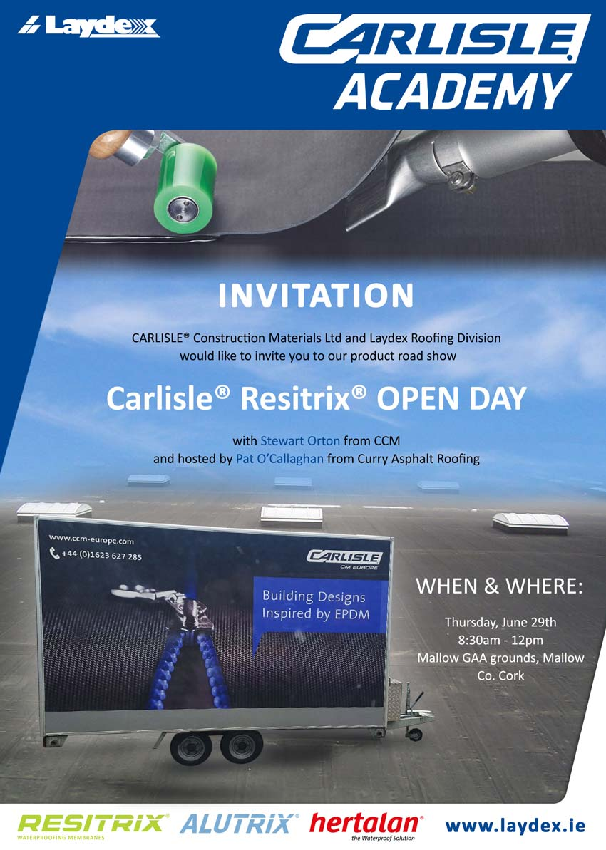 Laydex Building Solutions and Carlisle Resitrix Road Show
