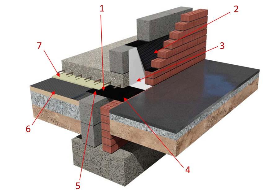 Memtech Radon Membrane - Suspended Slab Detail