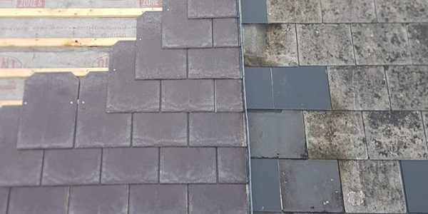 Roof Renovation Project, Tapco Slate Tile