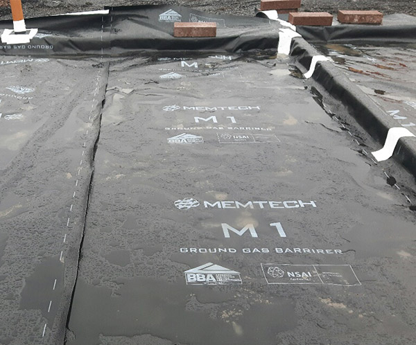 Metech M1 Gas Proof Membrane - Radon protection System   Laydex Ireland