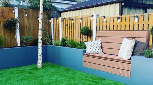 Sage Artificial Grass Project – Suburban Garden Design