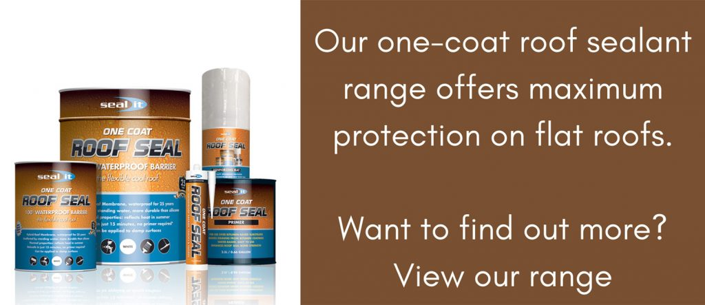 One Coat Roof Sealant - Full Range Offers Maximum Protection on Flat Roofs