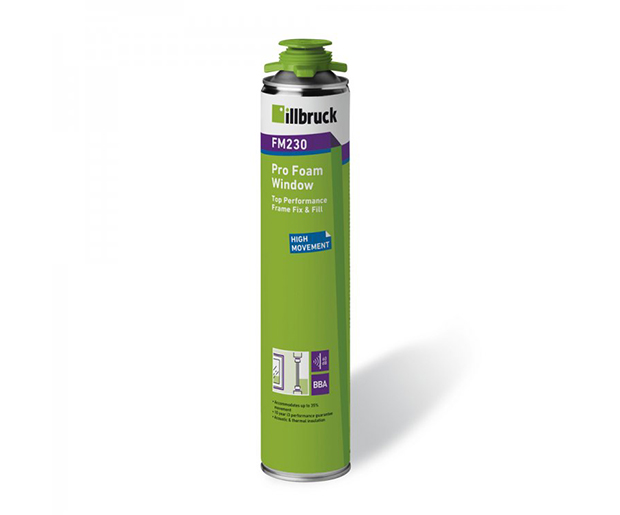 FM230, moisture curing, polyurethane, expanding foam, suited for thermal and sound insulation, window, door frames
