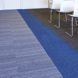 Cobalt Lines, a stylish, yet strong heavy contract tile with flexible design options and high durability, carpet tiles, Incati