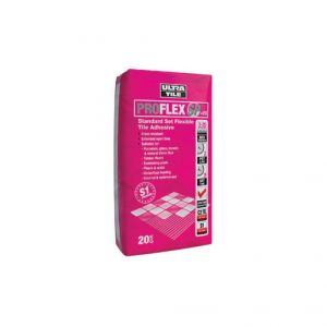 UltraTile ProFlex SP+ES is a single part, standard set, flexible adhesive for wall and floor tiles