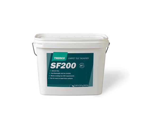SF200 is a single component, white waterborne liquid adhesive, which dries to a clear, permanently tacky film.