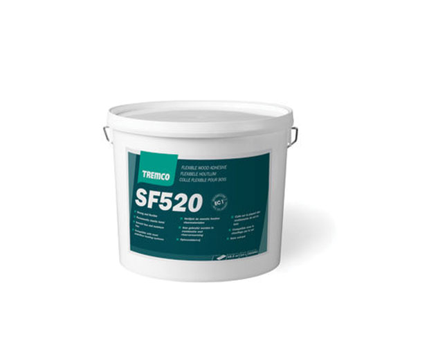 A high strength, flexible, single component advanced polymer adhesive for surface bonding most wood flooring.