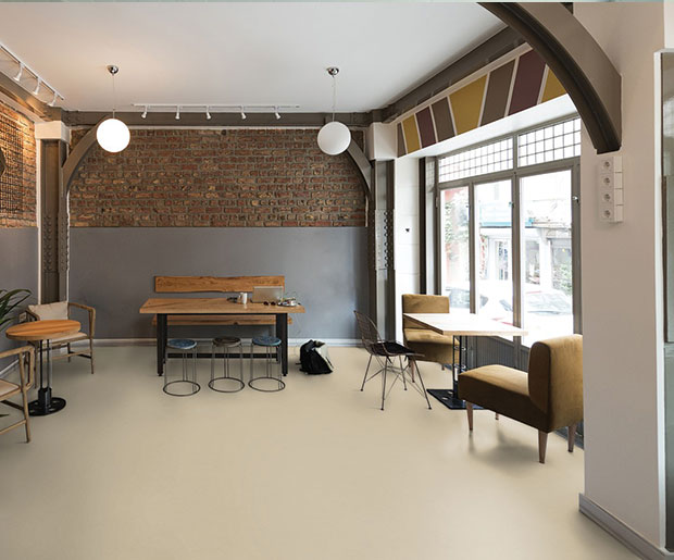 reduce impact and ambient noise and enhance underfoot comfort and wellbeing, Silencio xf²™ offers an acoustic linoleum solution with sound reduction of 18dB