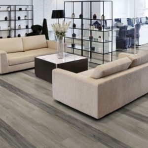 Compact Resilient Floorcovering, with glass fibre reinforcement